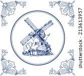 Dutch Delft Blue Tile With A...