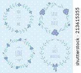 set of wedding wreaths. eps 10. ... | Shutterstock .eps vector #213615355