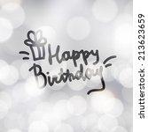 happy birthday  vector... | Shutterstock .eps vector #213623659