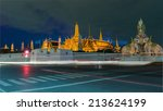 grand palace at twilight with... | Shutterstock . vector #213624199