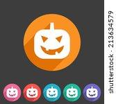halloween pumpkin icon   Shutterstock .eps vector #213634579