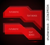 futuristic text boxes... | Shutterstock .eps vector #213639034