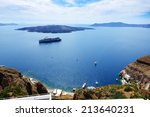 The View On Aegean Sea And...