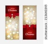 christmas website banner and... | Shutterstock .eps vector #213640345