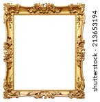 gold vintage frame isolated on... | Shutterstock . vector #213653194