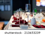 formal stylish setting on a... | Shutterstock . vector #213653239