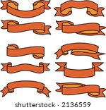 banner tapes. vector figure | Shutterstock .eps vector #2136559