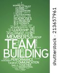 word cloud with team building... | Shutterstock . vector #213657961