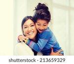 family  children and happy...   Shutterstock . vector #213659329