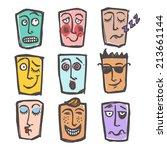 sketch emoticons face... | Shutterstock .eps vector #213661144
