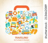 travel holiday vacation... | Shutterstock .eps vector #213662089