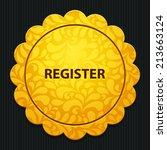 beautiful register web icon | Shutterstock .eps vector #213663124