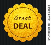 beautiful great deal web icon | Shutterstock .eps vector #213663685