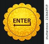 beautiful enter web icon | Shutterstock .eps vector #213663919