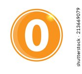 number 0  icon | Shutterstock .eps vector #213669079