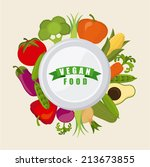 vegan food over white... | Shutterstock .eps vector #213673855