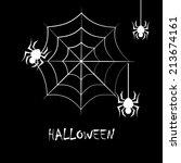 halloween design over black... | Shutterstock .eps vector #213674161