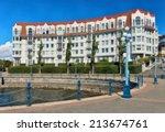 condominium or apartment... | Shutterstock . vector #213674761
