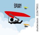 extreme sport design over... | Shutterstock .eps vector #213675811