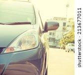 city car   instagram filter | Shutterstock . vector #213677011