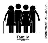 family design over white... | Shutterstock .eps vector #213680014