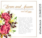 wedding invitation cards with... | Shutterstock .eps vector #213683155