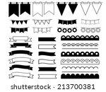 set of ribbons | Shutterstock .eps vector #213700381