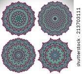 mandalas. round ornament... | Shutterstock .eps vector #213703111