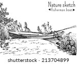 black and white sketch of... | Shutterstock .eps vector #213704899