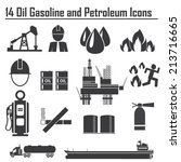 oil  gasoline and petroleum  | Shutterstock .eps vector #213716665