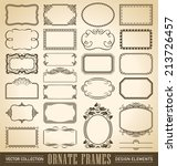 set of 24 hand drawn frames and ... | Shutterstock .eps vector #213726457