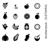 fruit icons | Shutterstock .eps vector #213734941