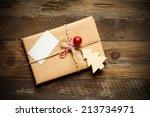 christmas gift | Shutterstock . vector #213734971