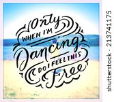 inspirational typographic quote ... | Shutterstock . vector #213741175
