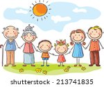 happy family with two children... | Shutterstock .eps vector #213741835