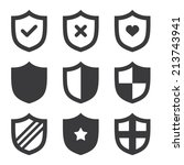 shield icons | Shutterstock .eps vector #213743941