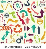 big arrow set | Shutterstock . vector #213746005