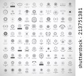 snowflake icons set   isolated... | Shutterstock .eps vector #213751381