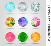 set of abstract colorful... | Shutterstock .eps vector #213752164