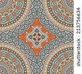 seamless indian pattern. round... | Shutterstock .eps vector #213756634