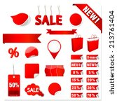 vector sale tags | Shutterstock .eps vector #213761404
