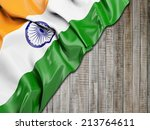 india wavy flag with vertical... | Shutterstock . vector #213764611