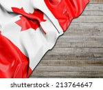 canada wavy flag with... | Shutterstock . vector #213764647