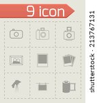 vector black photo icons set on ... | Shutterstock .eps vector #213767131