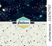 starry sky pattern | Shutterstock .eps vector #213767707