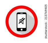 mobile phone ringer volume mute ...   Shutterstock .eps vector #213769405