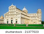 Beautiful Piazza Dei Miracoli Square of Miracles in Italy - stock photo