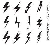 set of lightning icons. vector... | Shutterstock .eps vector #213774994