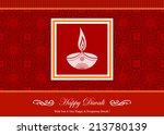 decorative diwali greeting card | Shutterstock .eps vector #213780139