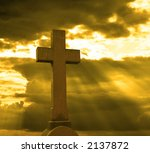 cross over cloudy sky | Shutterstock . vector #2137872